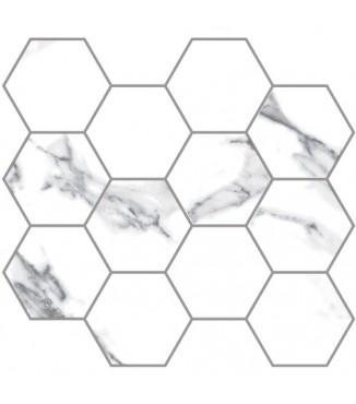 """Statuario Extra 3.25"""" Hex Mosaic"""