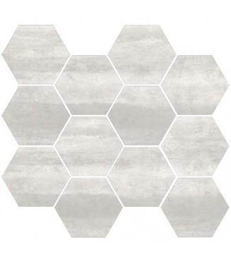 "Steel Moderne - Nickel 3.25"" Hex on 10x11.50 (Matte)"