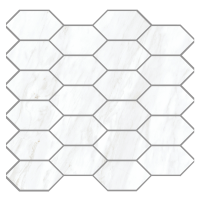 "Carrara Extra Moderne - 2""x4"" Diamond Blend Mosaic"
