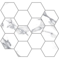 "Statuario E Moderne - 3.25"" Hex Mosaic  (polished)"