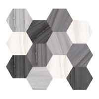 "Lakestone - 3.25"" Hex Blend on 10""x11.50"" Mesh Sheet"