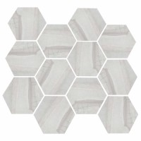 "Burlington - Light Grey 3.25"" Hex"