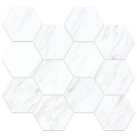 "Carrara Extra 3.25"" Hexagon Mosaic (Polished)"