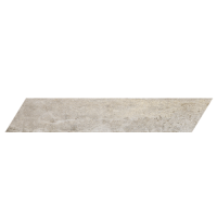 "Concrete - Ash Grey 4""x24"" Chevron Left (Matte)"