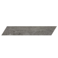 "concrete - Gun Powder 4""x24"" Chevron Left (Matte)"