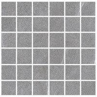 "Lifestone - Medium Grey 2""x2"" Mosaic on 12""x12"""