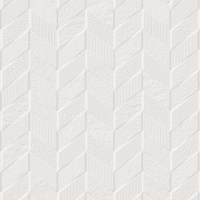 "Museum Wall Chevron White 12""x36"" matte"