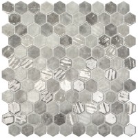 Onix Hex - Grey Silver Mix Malla
