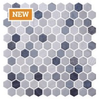 "Onix Hex Blend Shadow Malla on 11.85""x11.41"""