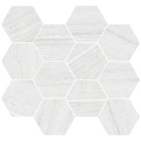 "Coastline M - Pebble Beach 3.25"" Hex Mosaic (matte)"