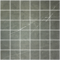 "Precious Marble Moderne - Pietra Grey Brown 2""x2"" Mosaic (polished)"