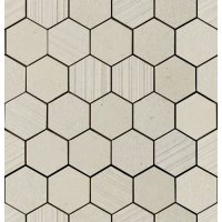 "Silver Grain - Beige 2.37"" Hex. Mos. Mix 12""x12.5"""
