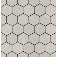 "Silver Grain - Grey 2.37"" Hex. Mos. Mix 12""x12.5"""