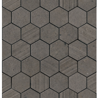 "Silver Grain - Dark 2.37"" Hex. Mos. Mix 12""x12.5"""