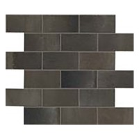 "Steel - Brick Metal Mosaic 12""x14"" (Semi-polished)"