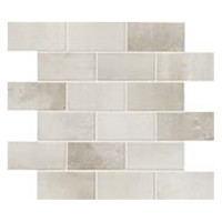"Steel - Brick Chrome Mosaic 12""x14"" (Matte)"
