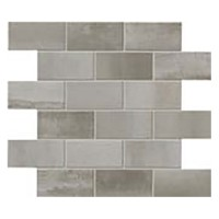 "Steel - Brick Nickel Mosaic 12""x14"" (Semi-polished)"