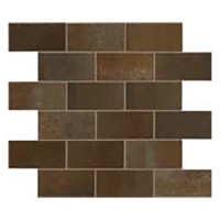 "Steel - Brick Rust Mosaic 12""x14"" (Semi-polished)"