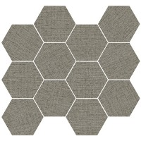 "Fabrique 2.0 - Wool 3.25"" Hex Mosaic"